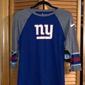 NY Giants NIKE 3/4 sleeve tee NWT